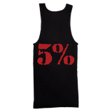 5% Love It Kill It, Black Ribbed Tank Top with Red Lettering - Pro-flexx
