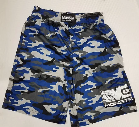 Monsta DriFIt Blue Camo Shorts - Pro-flexx