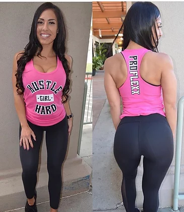 Hustle hard girl pink tank - Pro-flexx