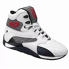 White/Carbon Ultimate Trainer Bodybuilding Shoes - Pro-flexx