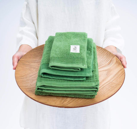 kiginkin matcha wine towel wooden tray