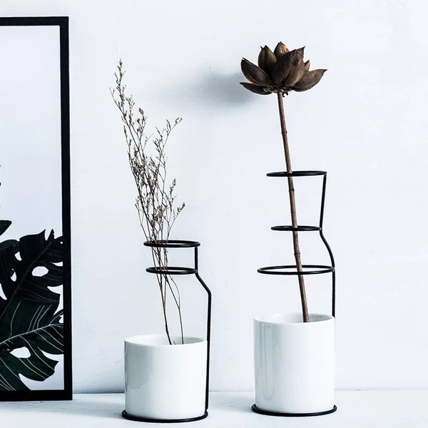 Monochrome Outline Vase