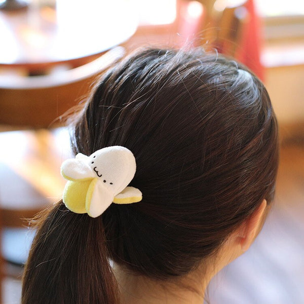 Cute Banana Keyring Plush