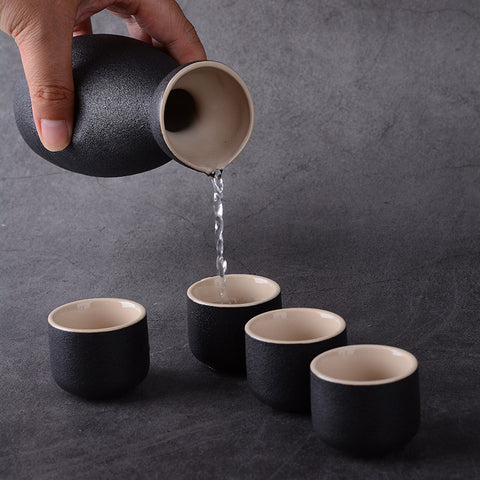 Zen Nero Sake Set 7 Piece