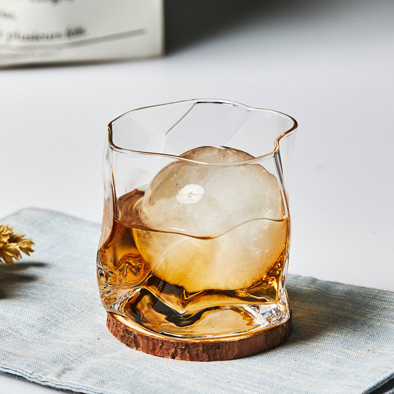 Crumpled Whisky Glass
