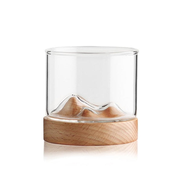 Topography Whisky Glass - Light Beech