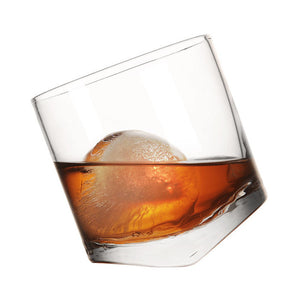 Leaning Whisky Glass