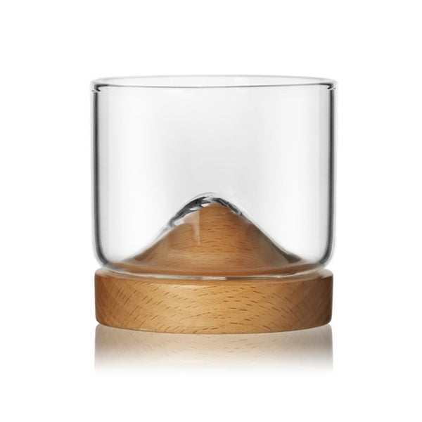 Single Peak Whisky Glass - Light Wood