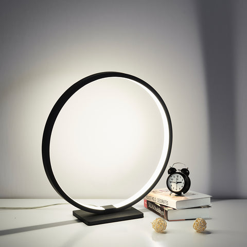 Zen Circle Lamp Nero
