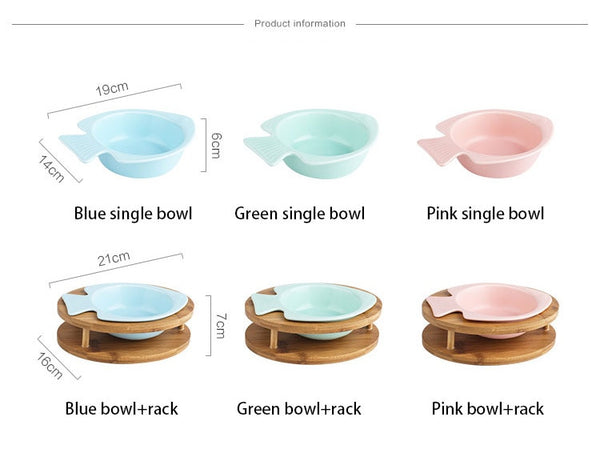 Zen Pastel Fish Pet Bowl