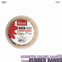 ANNIE Assorted Colors Rubber Bands ½inches(14mm)-500pcs