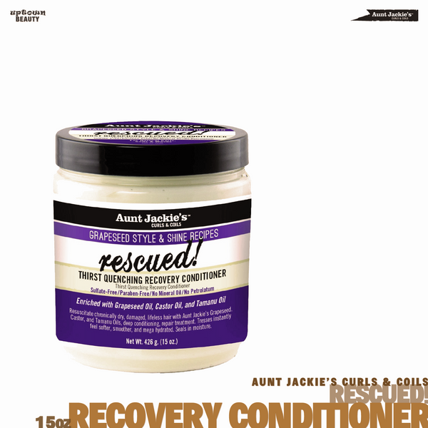 AUNT JACKIE'S CURLS & COILS Rescued Thirst Quenching Recovery Conditioner 15oz