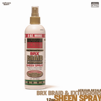 African Royale BRX Braid and Extensions Sheen Spray, 12 oz