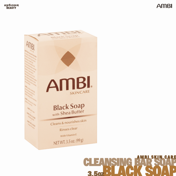 Ambi Skincare Black Soap with Shea Butter Bar 3.5oz