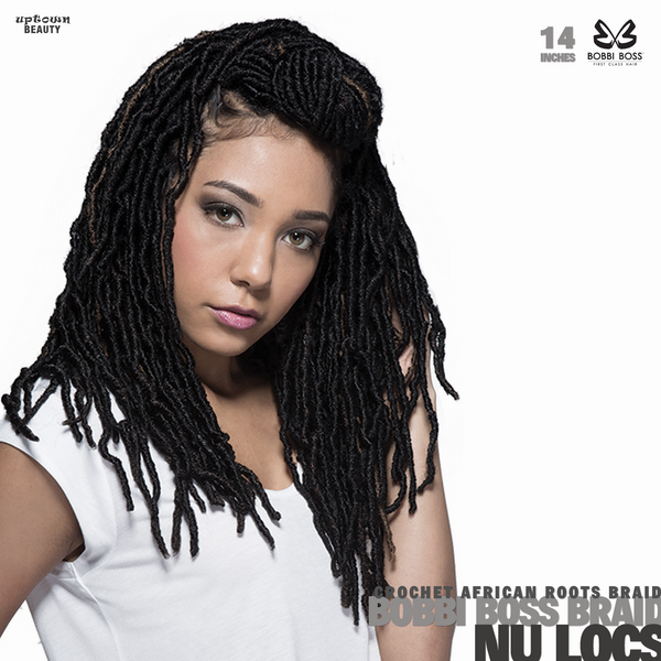 Bobbi Boss Synthetic Hair Crochet Braids African Roots Braid Collection Nu Locs 14 inch