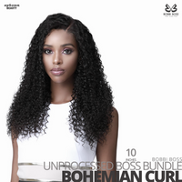 Bobbi Boss Unprocessed Virgin Human Hair Bundle Weave BOSS BUNDLE # Bohemian Curl #10 inches