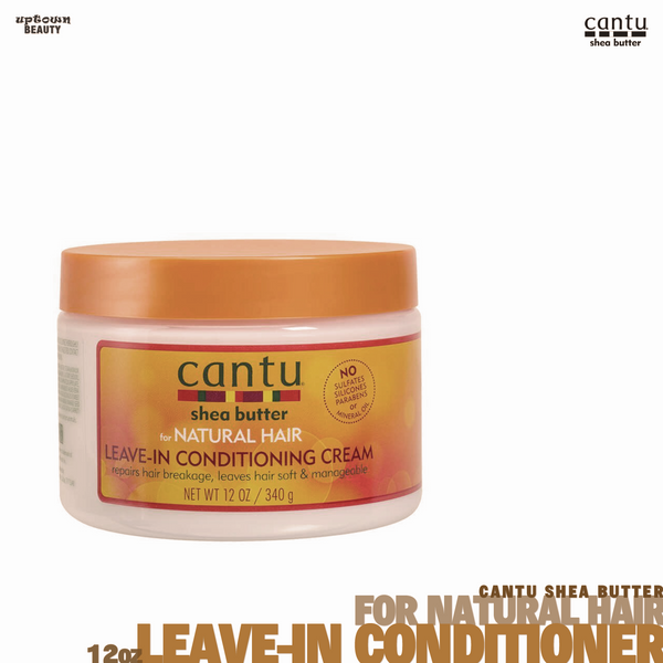 Cantu Shea Butter for Natural Hair Leave in Conditioner Repair Cream 12 Oz