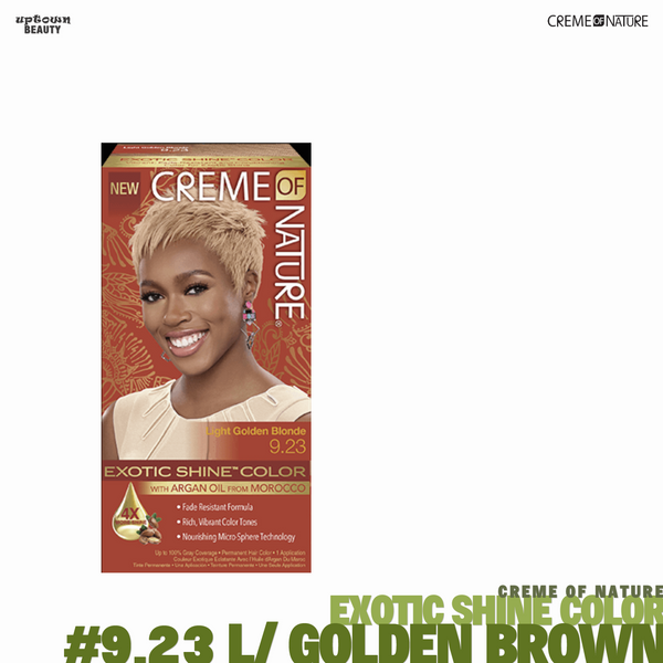 Creme Of Nature Exotic Shine Hair Color - #9.23 Light Golden Brown