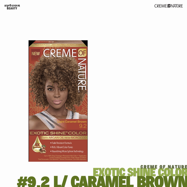 Creme Of Nature Exotic Shine Hair Color - #9.2 Light Caramel Brown