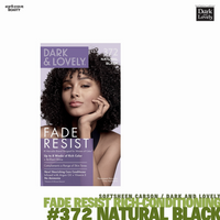 Dark and Lovely Fade Resist Rich Conditioning Hair Color #372 Natural Black