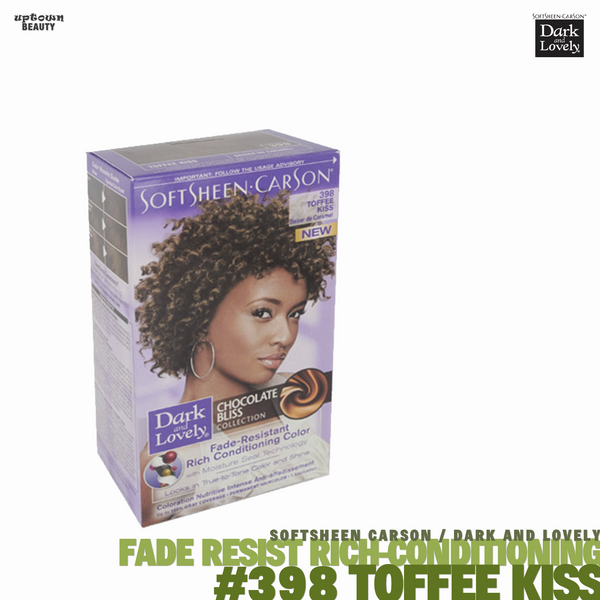 Dark and Lovely Fade Resist Rich Conditioning Hair Color #398 Toffee Kiss