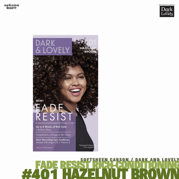 Dark and Lovely Fade Resist Rich Conditioning Hair Color #401 Hazelnut Brown