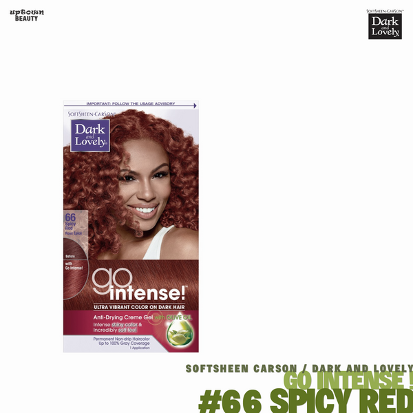 Dark and Lovely Go Intense Ultra Vibrant Color on Dark Hair #66 Spicy Red