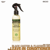 Eco Style Black Castor and Flaxseed Oil Leave-In Conditioner. 8oz