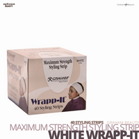 GRAHAM BEAUTY Maximum Strength Styling Strip Wrapp-it #White #40 Styling Strips