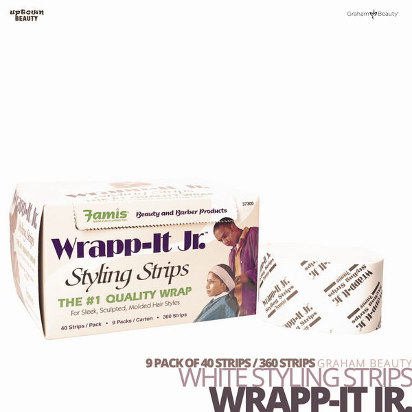 GRAHAM BEAUTY Styling Strip Wrapp-It Jr. # White Packs of 40 Strips