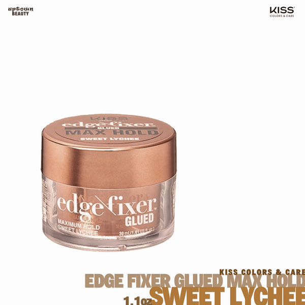 KISS Edge Fixer Glued Maximum Hold Sweet Lychee 1oz