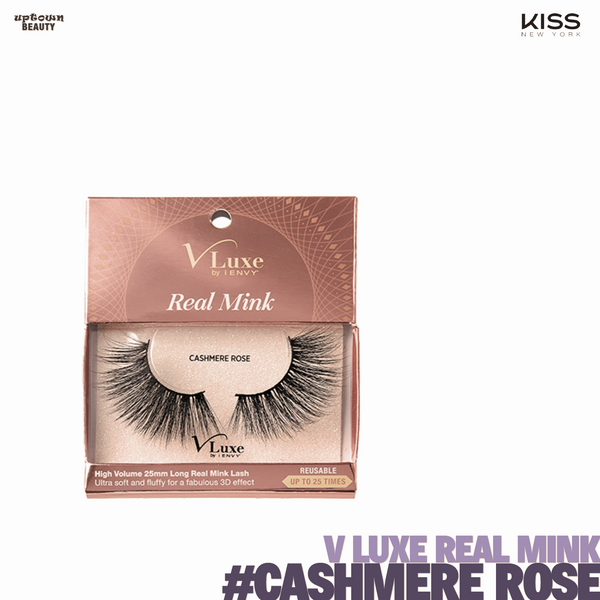 KISS V Luxe by I Envy Real Mink #-Cashmere Rose