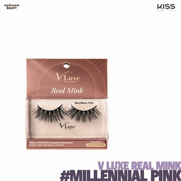 KISS V Luxe by I Envy Real Mink #-Millennial Pink