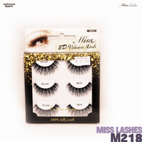 Miss Lashes 3D Volume False Eyelash - M218-3PCS