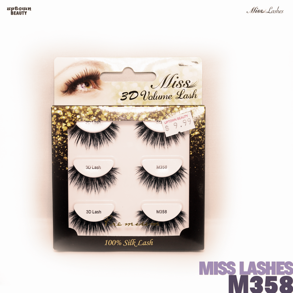 Miss Lashes 3D Volume False Eyelash - M358-3PCS