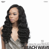 OUTRE 100% Remy Human Weave Hair VELVET Brazilian # Beach Wave #10 inches