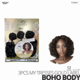 OUTRE Human Bundle- My Tresses Gold Label -# Boho Body 12 inches