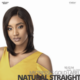OUTRE Human Bundle- My Tresses Gold Label -# Natural Straight 10-12-14 inches