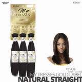 OUTRE Human Bundle- My Tresses Gold Label -# Natural Straight 12-14-16 inches