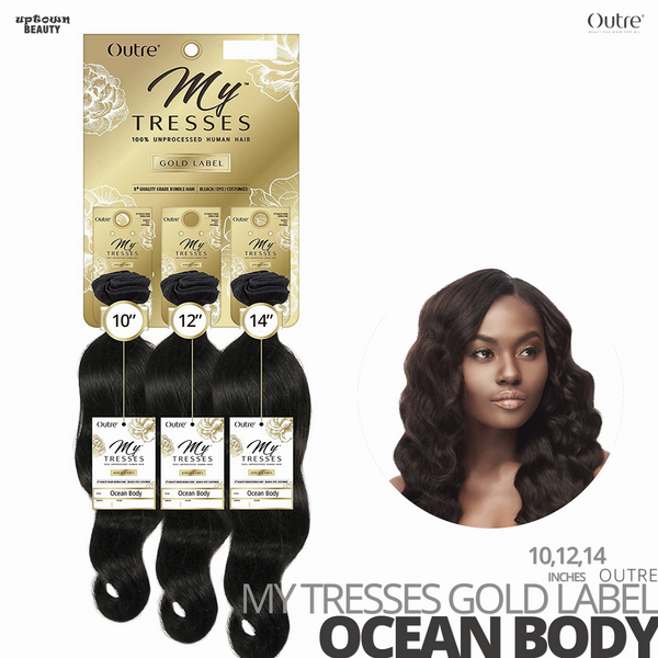 OUTRE Human Bundle- My Tresses Gold Label -# Ocean Body 10-12-14 inches