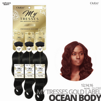 OUTRE Human Bundle- My Tresses Gold Label -# Ocean Body 12-14-16 inches