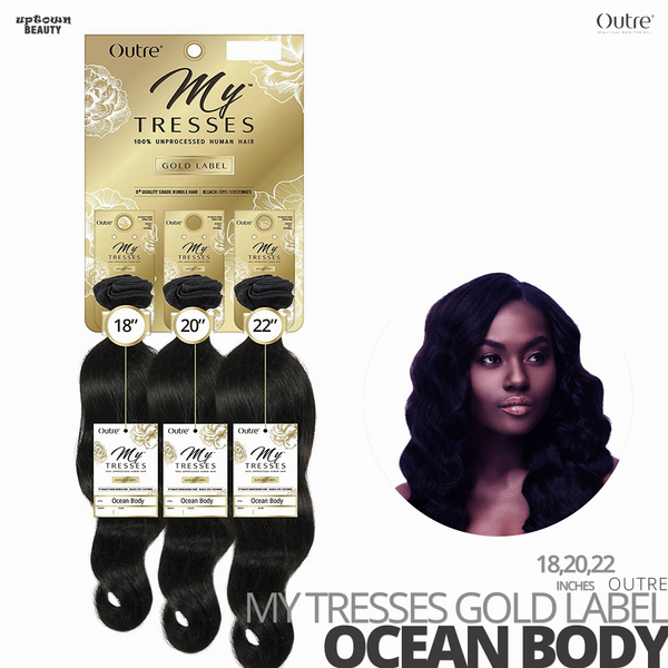 OUTRE Human Bundle- My Tresses Gold Label -# Ocean Body 18-20-22 inches