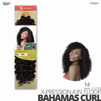 OUTRE Synthetic Crochet Hair Braids  X-PRESSION 4 IN 1 Loop#Bahamas Curl #14 inches