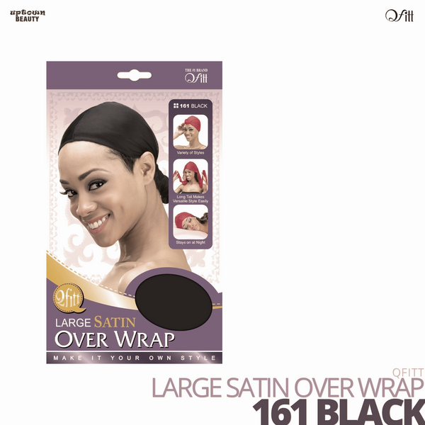 QFITT - Lagre Satin Over Wrap #161 Black