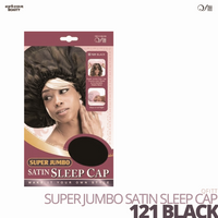 QFITT - Super Jumbo Satin Sleep Cap #121 Black