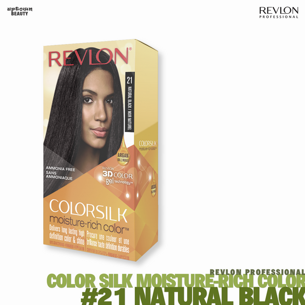 REVLON Color-silk Moisture-Rich Color Permanent Color #21 Natural Black