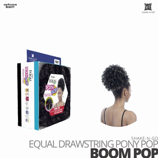 SHAKE-N-GO FreeTress Equal Drawstring Pony Pop #Boom Pop