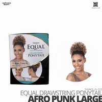 SHAKE-N-GO FreeTress Equal Drawstring Ponytail #Afro Punk Large