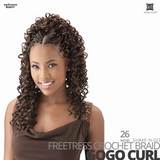 SHAKE-N-GO Freetress Synthetic Hair Crochet BRAID #Gogo Curl #26 inches