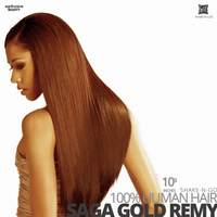 SHAKE-N-GO Milky way 100% REMY HUMAN HAIR WEAVING SAGA GOLD  #10S  inches